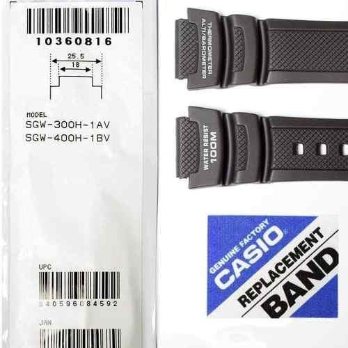 abdb3c909f0 Pulseira Casio 100% Original Resina Preta Sgw-300h Sgw-400h