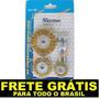 Jogo Escova Circular Furadeira Lixa Ferramentas Kit Retifica