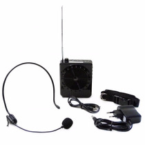 Kit Amplificador Professor Voz Microfone Megafone Aula E72