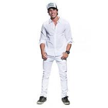 Calça Masculina Jeans Sarja Slim Lycra 36 Ao 48 Frete Gratis