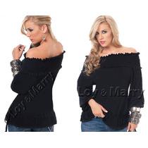 Blusa Feminina Plus Size Moda Gordinha S/renda Ciganinha