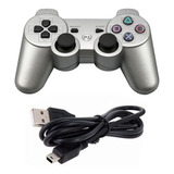 Controle Play3 Raspberry Sem Fio Ps3 Color Wirelles Nf