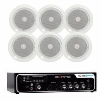 Kit Som Ambiente Borne Rc5000 Bluetooh Usb +6 Arandelas Ar5c