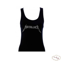Camiseta Regata Metallica * Strass*