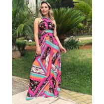 637085b0d Vestido Longo Cinturado 5 Formas Usar Estampas Lindas Mult à venda ...