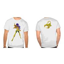 Camisa Cavaleiros Do Zodiaco Miro Escorpia Anime Manga Heroi