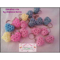 30 Chaveiros Mini Coração 3d Lembrancinha Dia Dos Namorados