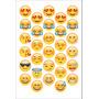 30 Adesivos 4cm Emojis Emoticons Whatsapp