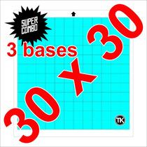 3 Bases De Corte Para Plotter Silhouette Cameo (30cmx30cm).