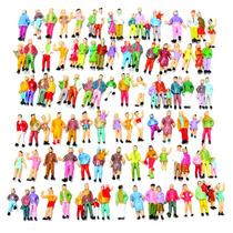 50 Figuras Humanas Em Pé Ho 1:87 P/ Maquetes