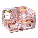 Kit De Casa De Bonecas Em Miniatura Loft Diy Realista Mini