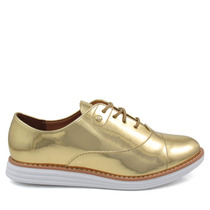 Sapato Feminino Oxford Vizzano 1231100 Metalizado
