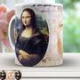 Mona Lisa Com Leonardo Da Vinci - Xicara De Porcelana 665