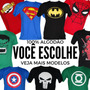 Kit Com 4 Camisetas Adulto De Super Herois Divertidas Geek