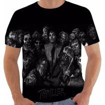 Camiseta Ou Baby Look Michael Jackson Thriller 41 Pb