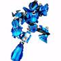 Robô Guerreiro Blue Armor 65 Peças Xalingo Para Montar