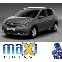 Tinta Spray Automotiva Renault Cinza Acier + Verniz 300ml