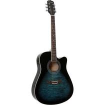Violão Elétrico Folk Aco Gf1r Dark Blue Burst Giannini