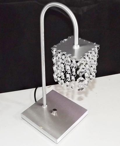 Abajur De Mesa Crystal Asfour Importado Requinte E Qualidade