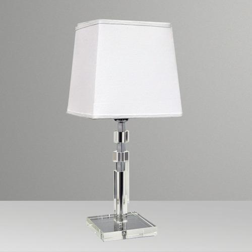 Abajur Luminária Vidro Cristal Cubo Moderno Sala Golden  ~ Abajur Ou Luminaria Para Quarto