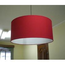 Pendente Tecido 55cm Luminária De Teto Lustre Cupula Abajur