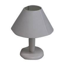 Abajur Base Madeira Branco - Bm Lamps