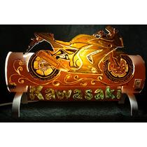 Luminaria Feita Com Cano De Pvc - O Tema Moto Kawasaki Ninja