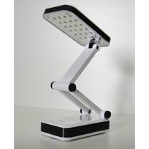 Abajur E Luminaria De Mesa 24 Leds Recarregável E Articulada