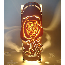 Luminária De Pvc - Rosa