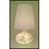 Abajur De Vidro Double Lighting Branco Para Sala Ou Quarto