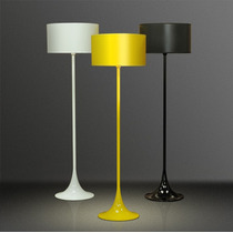 Abajur Coluna Luminária Piso Lustre Colorido Golden