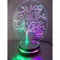 Luminária Em Acrílico Tipo Arvore Genealógica, Ou Natal