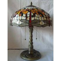 Lindo Luminaria Abajur Tiffany Com Libelula Cod 16071