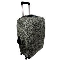 Capa Proteção Para Mala Viagem Méida Tecido Nylon Protetora