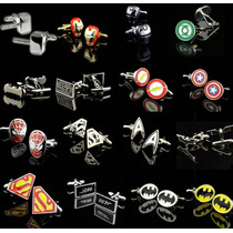 Abotoaduras Geek Super Heróis Marvel P/ Camisa