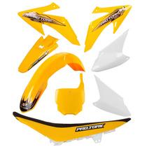 Kit Plásticos Honda Crf 230 Roupa Amarelo Com Banco + Brinde
