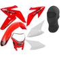 Kit Plástico Crf Vermelho Pro Tork Com Farol Universal