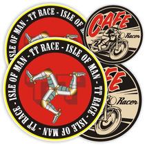 Kit Adesivo Isle Of Man Tt Race Cafe Racer Rln123 Hornet Cbr