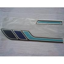Adesivo, Jogo De Faixa Honda Cg Bolinha 1979 - Azul