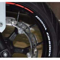 Friso Refletivo Adesivo Roda Moto Honda Cb 500 X M3 Completo
