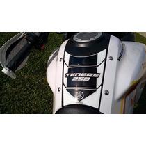 Adesivo Resinado Protetor Tankpad Yamaha Ténéré 250 Branco