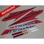 Kit Adesivos Nxr150 Es Bros 2008 Preta - Resinado - Decalx