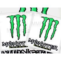 Kit Adesivos Monster Medio Verde Resinado