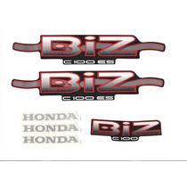 Kit Adesivos Honda Biz C 100 Es 2002 Preta