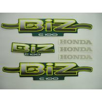 Adesivo Biz Ks 2002 Verde, Faixa Original Completa