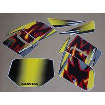 Kit Adesivos Honda Xr 200r 2001 Preta - Decalx