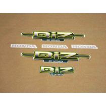Kit Adesivos Honda Biz 100 2002 Verde - Decalx