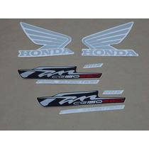 Kit Adesivos Honda Cg Fan 150 Esdi 2012 Cinza - Decalx