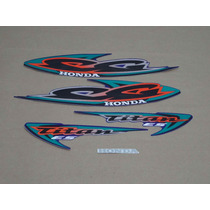 Kit Adesivos Honda Cg Titan Es 2000 Azul - Decalx