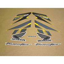 Kit Adesivos Honda Cbx Twister 250 2008 Amarela - Decalx